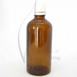100ml Amber glass bottle with cap & dripolator