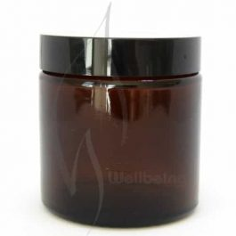 120ml Amber glass Jar with lid