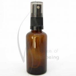 50ml Amber glass bottle with spray