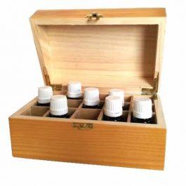Small Wood Essential Oil Box